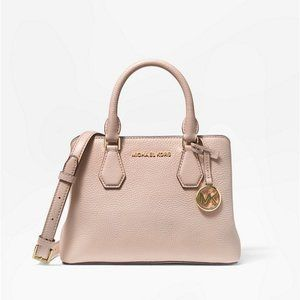 Michael Kors Camille Leather Satchel Crossbody Bag